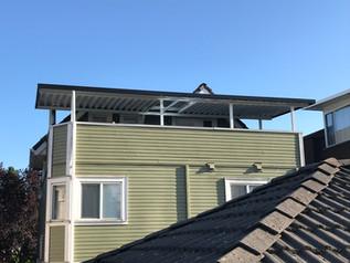 Aluminum patio cover on second floor
