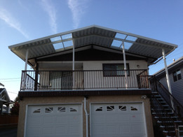 Arc shaped combined patio cover