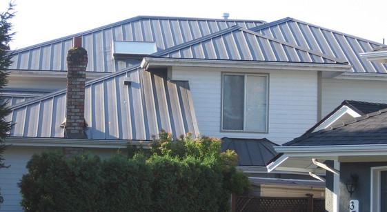 Metal roof / residential house