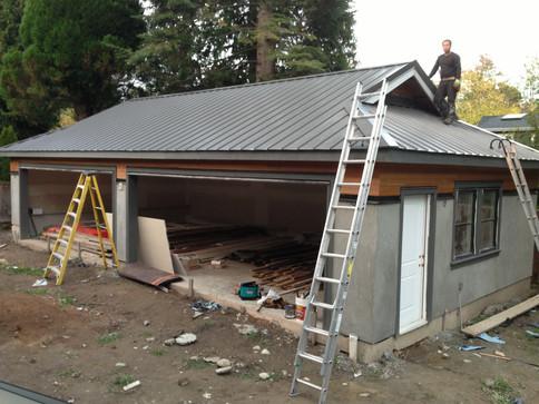 Metal roof garage