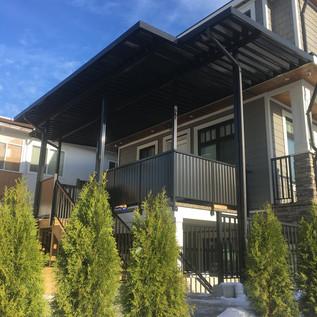 Black colored patio cover