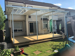 Aluminum and glass patio cover