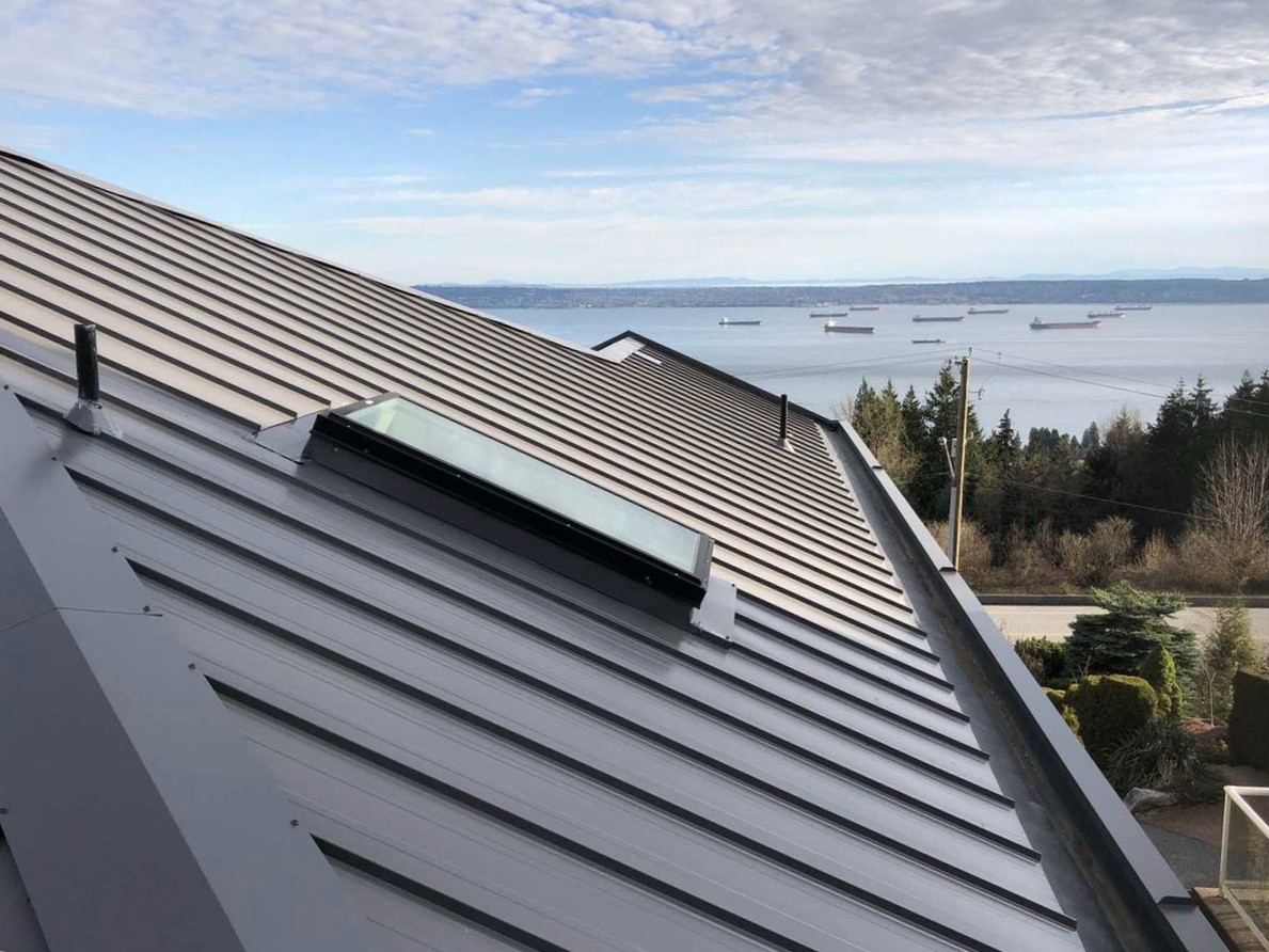 Metal Roof project in beautiful North Vancouver