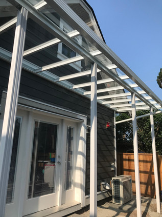 Patio cover for laneway house