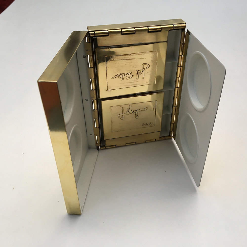 An etched box