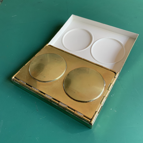 Lid folds out