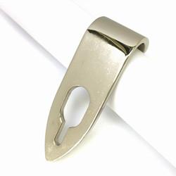 真鍮製プラチナ(Pt900)メッキ サムフック 背面