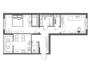 планировка 2к-квартиры на пр. Притомском