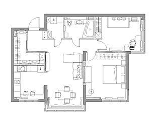 планировка 3к-квартиры в Промстрое
