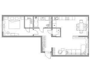 Планировка 2к-квартиры на пр. Притомский