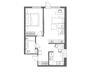 2х-комнатная квартира 47 кв.м. в брежнев