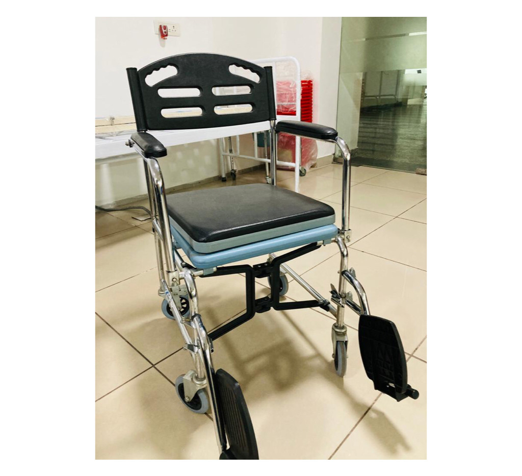 Commode Wheelchair which is foldable and lightweight
