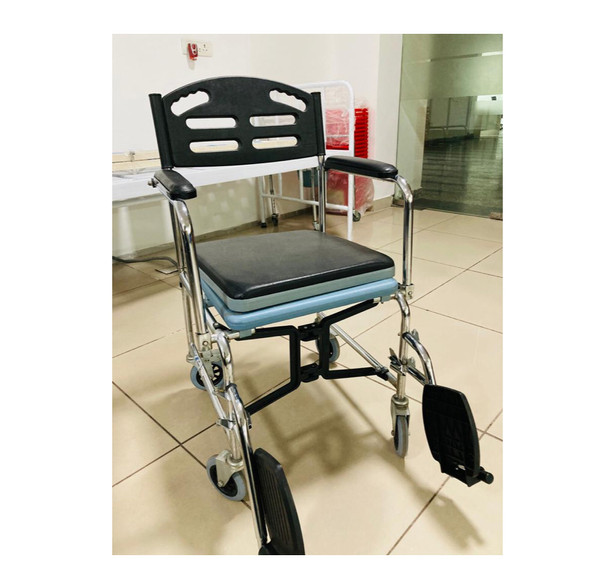 Commode Wheelchair, lightweight and folding