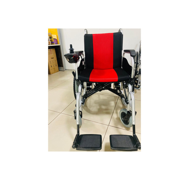 Motorised wheelchair Front view