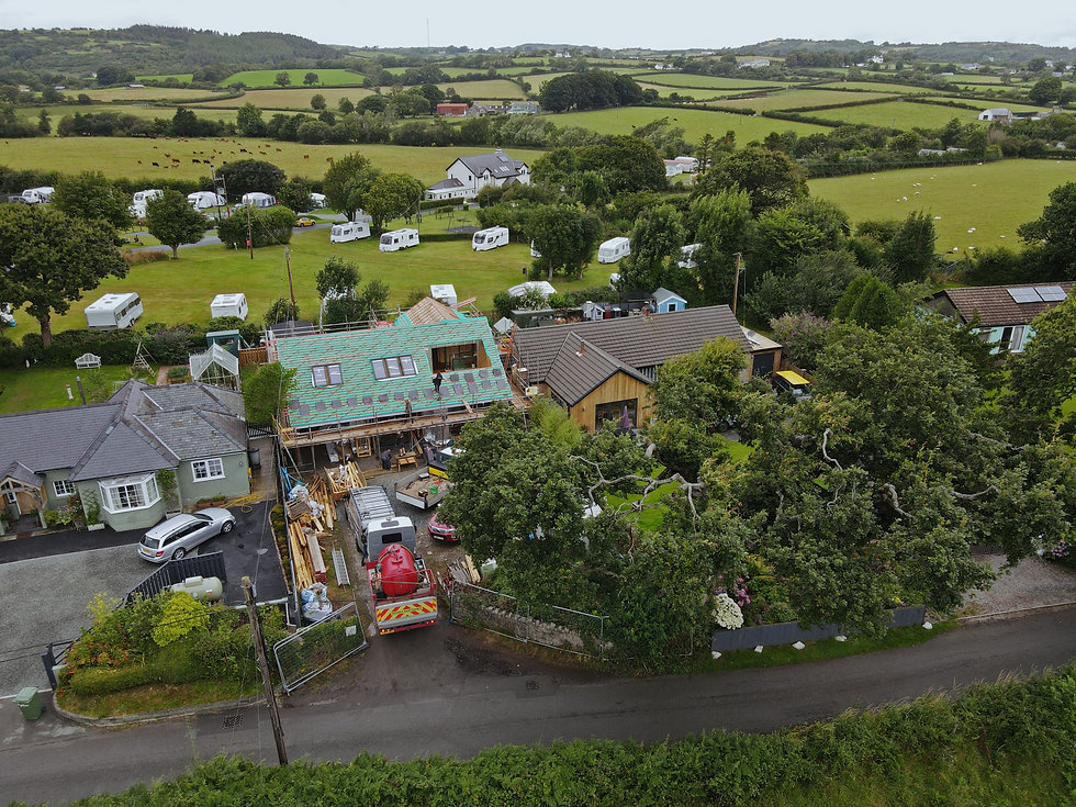 Seintwar modular timber frame new build house - Evergreen Architects - Anglesey