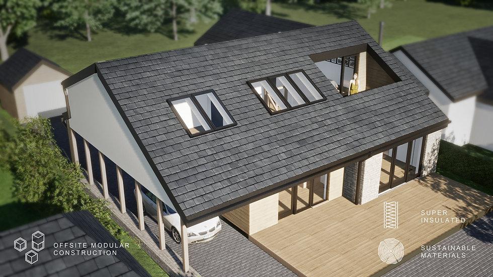 Seintwar modular timber frame SIP - Evergreen Architects - Anglesey