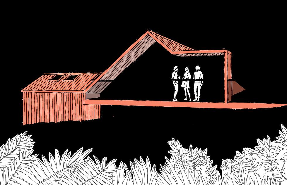 Tan Y Mynydd balcony sketch Evergreen Architects