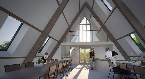 Cheese Factory interior design visualisation Anglesey North Wales Architect Architecture