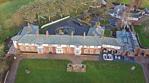 Hammerhill Pool House aerial Shropshire Architect Architecture