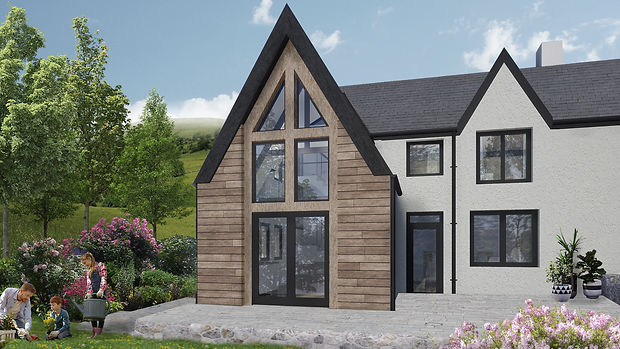 Frondeg Uchaf timber frame extension Evergreen Architects Anglesey North Wales Architect Architecture