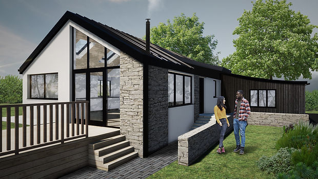 Parc Tyddyn house extension Evergreen Architects Anglesey North Wales Architect Architecture
