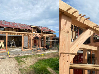Tyn Y Caeau traditional timber frame