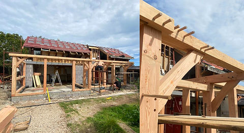 Tyn Y Caeau timber frame extension Anglesey North Wales Architect Architecture