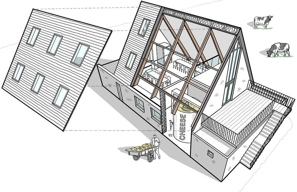Cheese factory sketch Anglesey North Wales Architect Architecture
