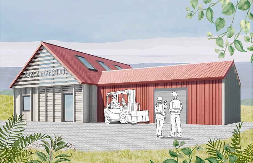 Tan Y Mynydd collage Evergreen Architects