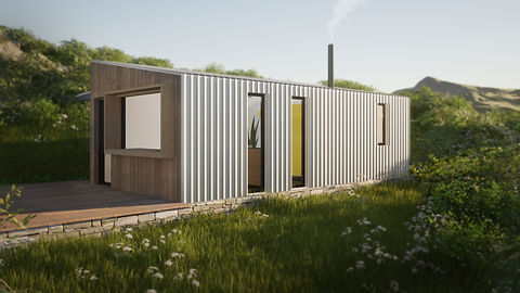 Cabin design architecture anglesey north wales