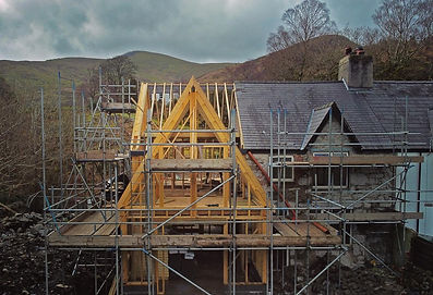 Photo Frondeg Uchaf timber frame extension Anglesey North Wales Architect Architecture