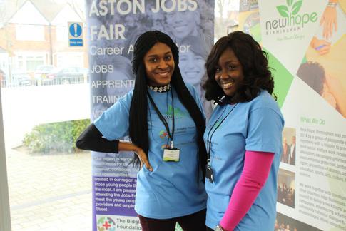 Volunteers Ruth and Eniola