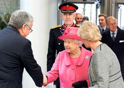 BCHC Chairman and New Hope Patron Tom Storrow with Her Majesty the Queen