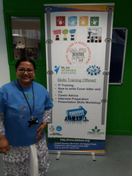 Dr Sultana showcasing her project