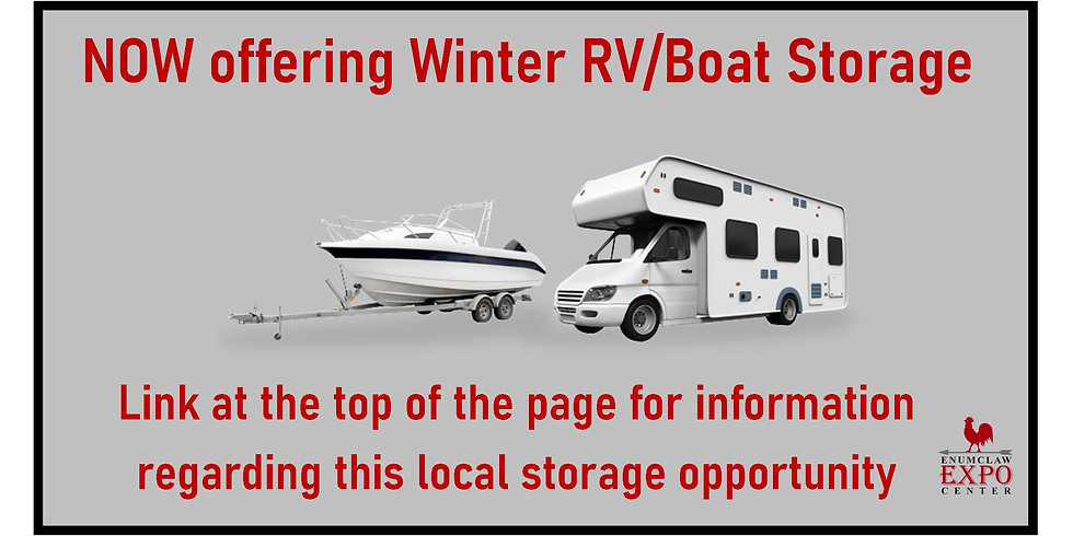 Winter Boat and RV Storage @ Expo