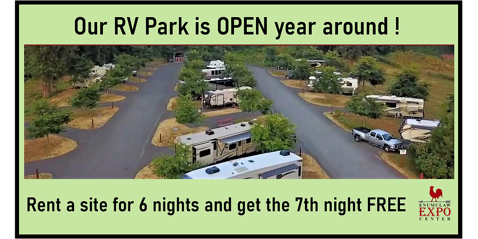 Our RV Park is OPEN