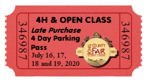 4H & Open Class LATE PURCHASE- 4 Day ParkingPass