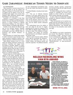 Gabe Jarmaillo Florida Tennis Magazine A