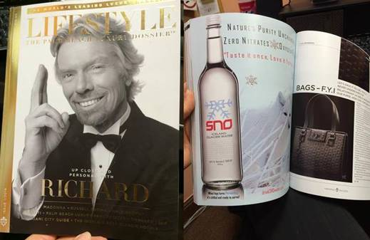 Sno Water in Magazine