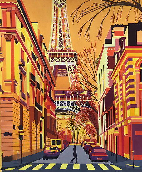A Parisian Street 406mm H x 340mm W