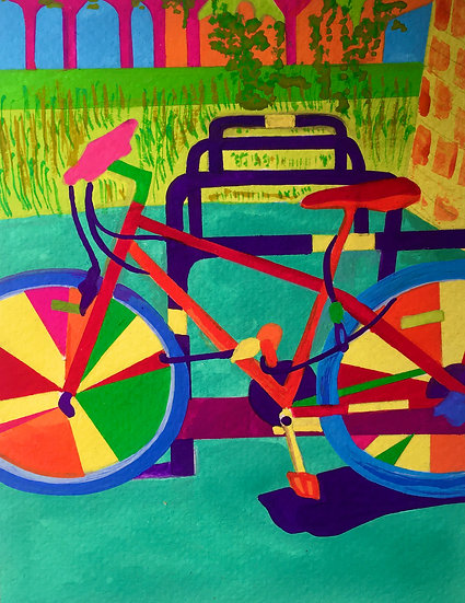 Bicycle in Greenwich 150mm W x 210mm H (A5)