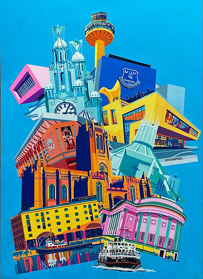 Liverpool's Iconic Buildings A3