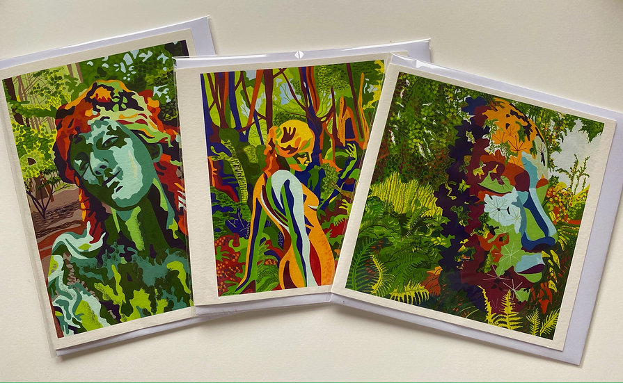 Set of 3  Giclee Printed Cards