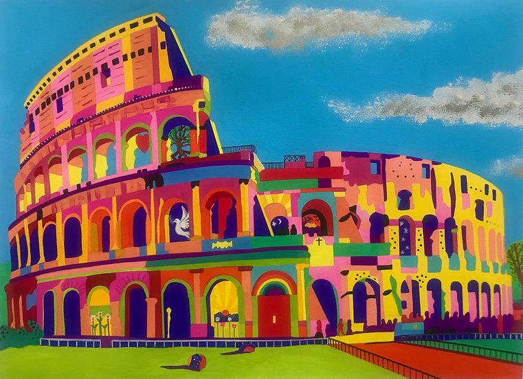 Colosseum, Rome 340mm W x 264mm H
