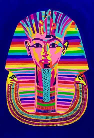 Rainbow Tutankhamun 298mm W x 420mm H