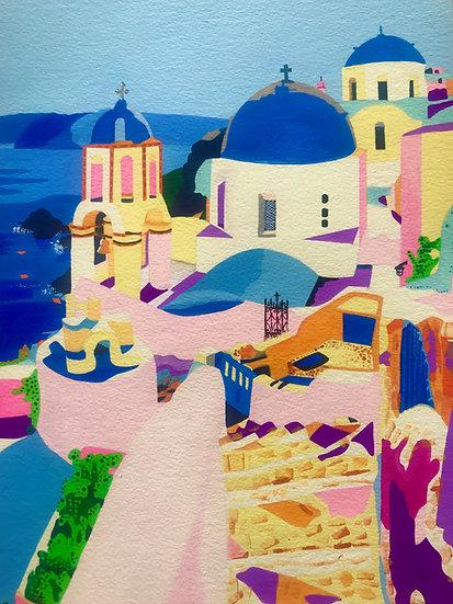 Santorini, Greece 258mm W x 345mm H