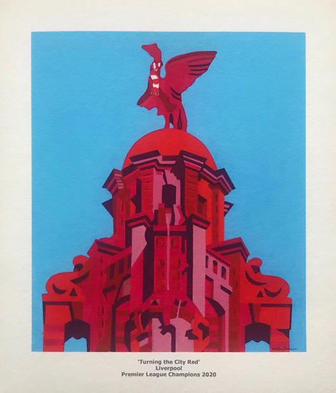 Turning the City Red 237mm W x 274mm H