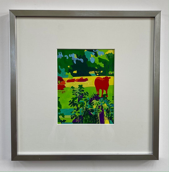 Hereford Cattle 38cm x 38cm