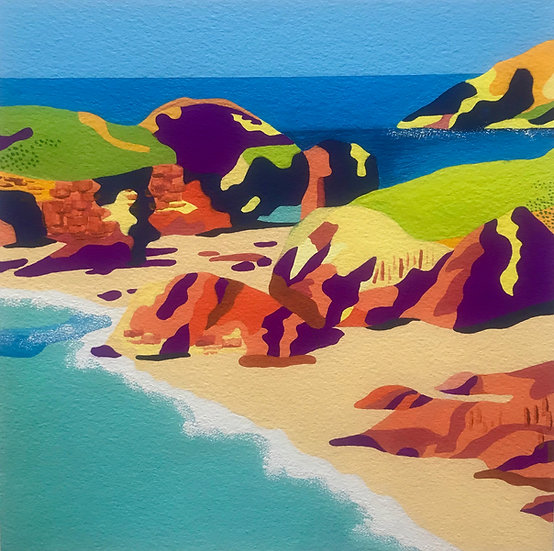 Kynance Cove, Cornwall 250mm W x 250mm H