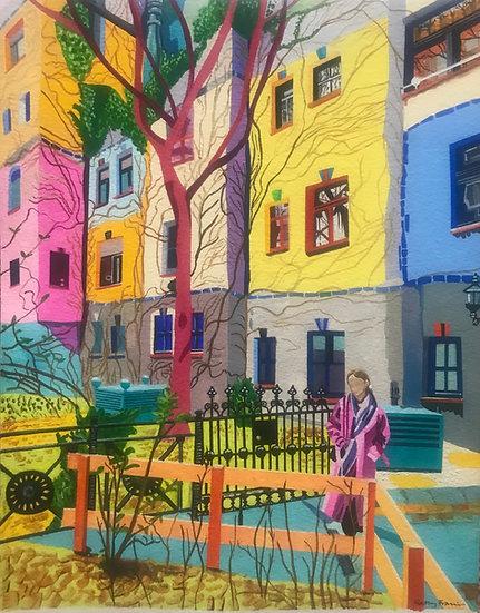 Hundertwasser Street Vienna 260mm W x 315mm H